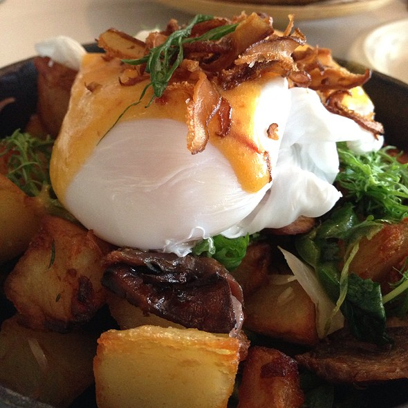 Duck Hash With Poached Eggs - Bolete Restaurant, Bethlehem, PA