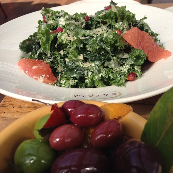 Olives With Kale Salad