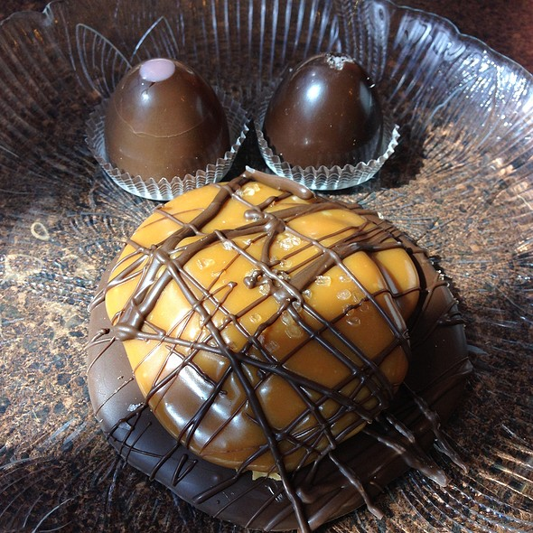 Flying Saucer, Sea Salt Caramel And Cherry Cheesecake Truffles @ Old Town Coffee & Chocolates