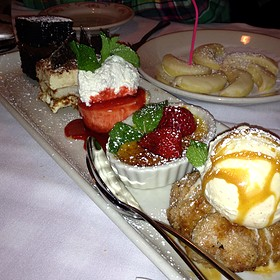 Apple Crostada, Creme Brulee, N.Y. Style Cheesecake, Tiramisu, Chocolate Zuccotto Cake - Mini Dessert Sampler