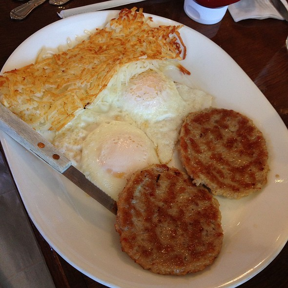 Sausage And Eggs With Hash Browns @ Pancake Mill Restaurant