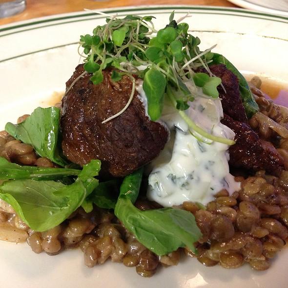 Braised Lamb, Arugala, Moroccan Lentils With Tzaziki - The Tavern, Tulsa, OK