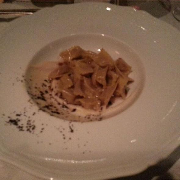 Porcini Ravioli In Black Truffle Cream Sauce @ Del Posto