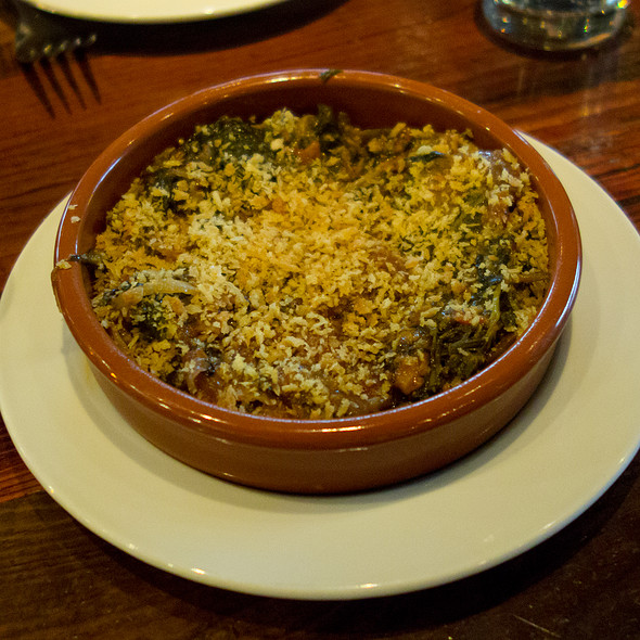 BRAISEDCHARD WITHTOMATO,HOT PEPPER ANDBREADCRUMBS - Oenotri, Napa, CA