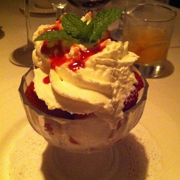 Chantilly Cream With Berries - Cadot Restaurant, Dallas, TX