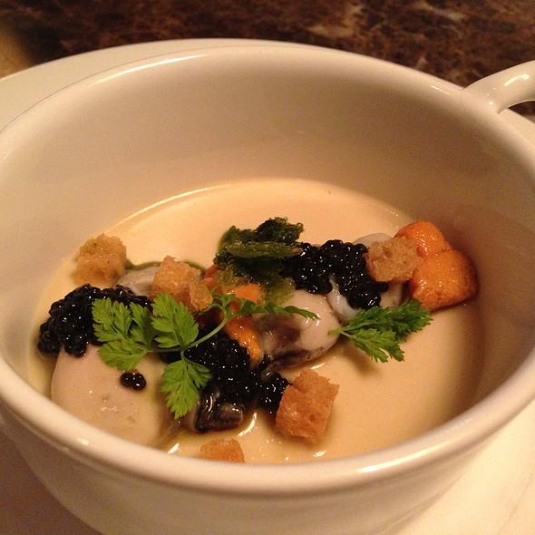 Kumamoto Oysters, Sea Urchin, Chowder Custard, Caviar Chervil - Bacchanalia, Atlanta, GA
