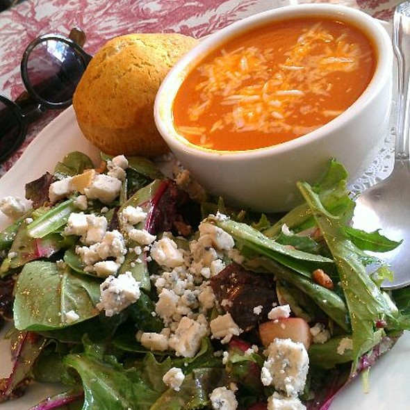 Mixed Green Salad With Candied Walnuts, Feta Cheese @ The Rolling Pin Cafe