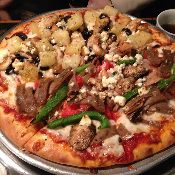 Greek Pizza With Gyro Meat @ Market Street Cafe