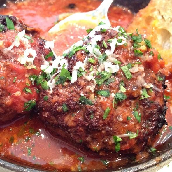 Neapolitan Meatballs In Sugo @ Pizzeria Delfina