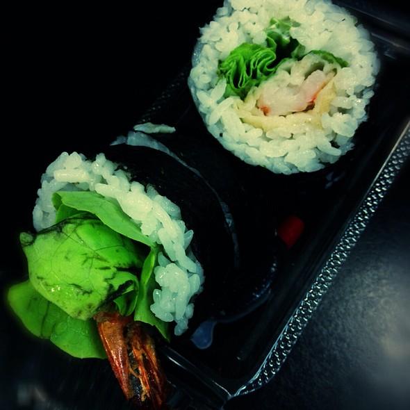 Lettuce & Prawn Sushi Roll @ Wasabi Express