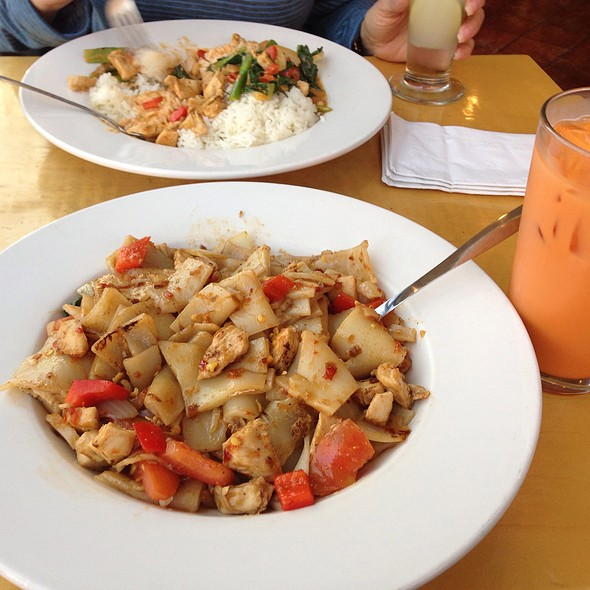 Hot Pepper Noodle And Thai Iced Tea
