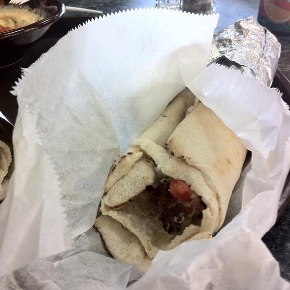 Falafel Sandwich @ Droubi's Middle Eastern Restaurant