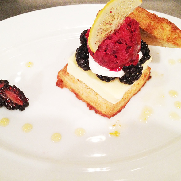 Lemon Blackberry Shortcake @ Spago
