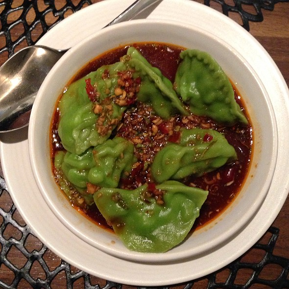 spicy seafood dumplings - M.Y. China, San Francisco