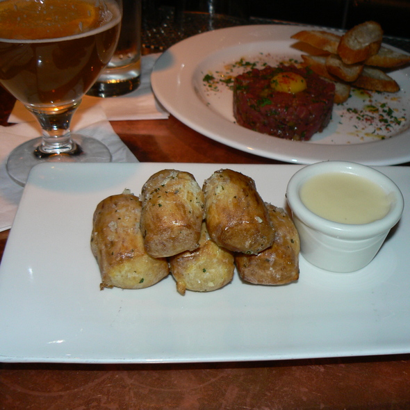Soft garlic pretzels @ Absinthe Brasserie & Bar
