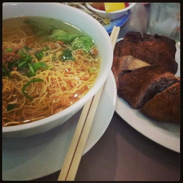 Crispy Skin Chicken With Noodles