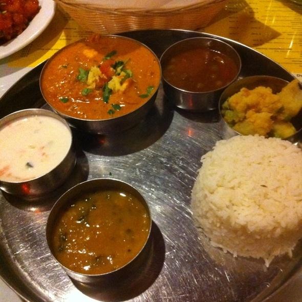 Paneer Tikka Masala Thali @ Dwaraka Indian Cuisine