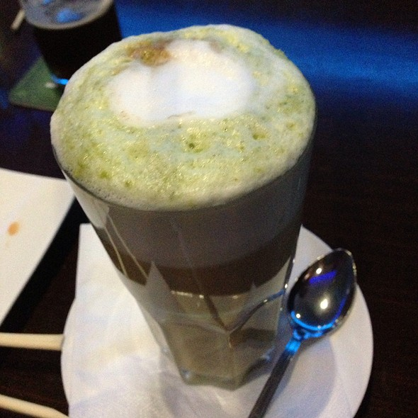 Hot Green Tea-Cafe Latte ....