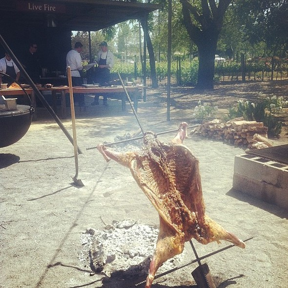 What a gorgeous day for our Live Fire Lamb Dinner Party! @ Farmstead restaurant