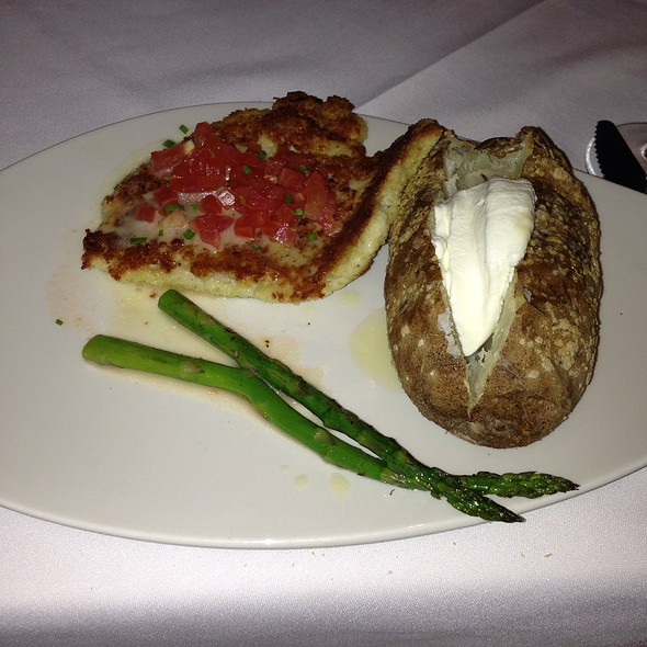 Chicken Romano With Mashed Potatoes - Chart House Restaurant - Weehawken, Weehawken, NJ