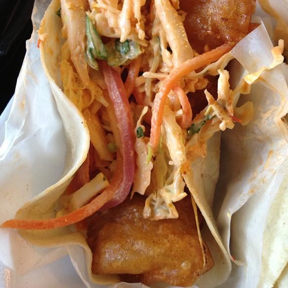 Sambal Tempura Fish Tacos
