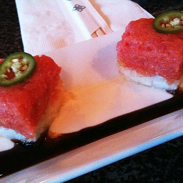 Crispy Rice with Spicy Tuna @ Izakaya Sozai