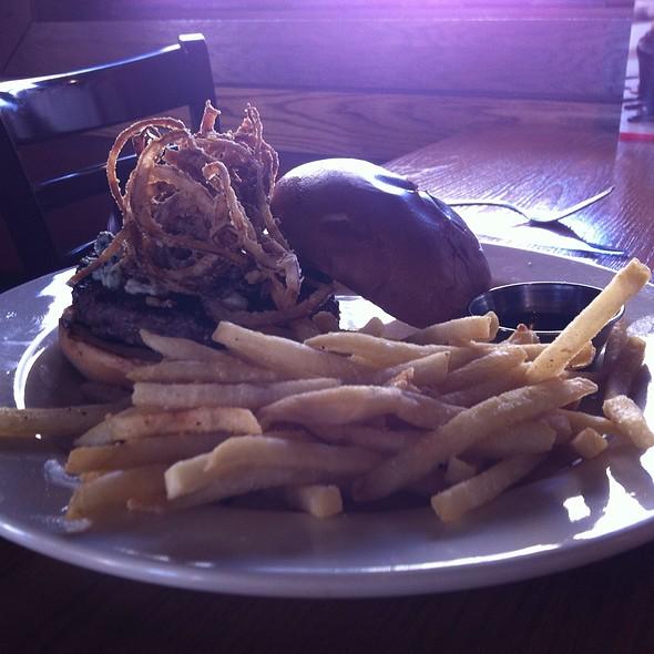Bourbonzola burger - Rock Bottom Brewery Restaurant - Milwaukee, Milwaukee, WI