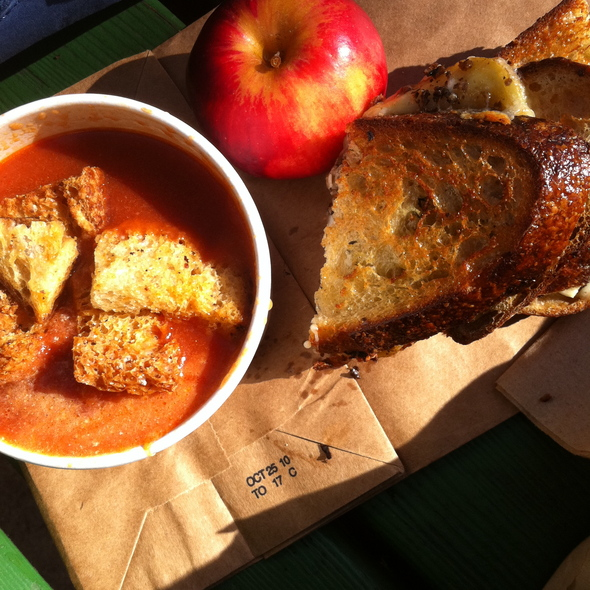 """Tomato Soup & Grilled Cheese Sandwich"""" @ The American Grilled Cheese Kitchen"""