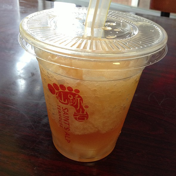 Grapefruit Green Tea With Lychee Jelly