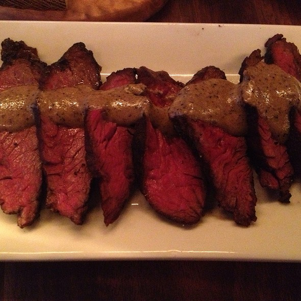Grilled Hanger Steak With Truffle Vinaigrette