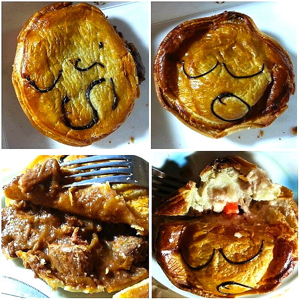 Chunky Steak Pie & Thai Curry Chicken Pie