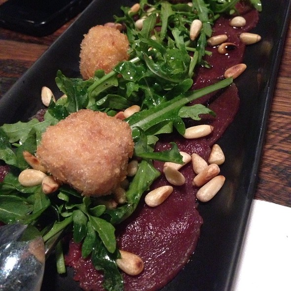 Kangaroo Carpaccio With Marrowbone Dumplings
