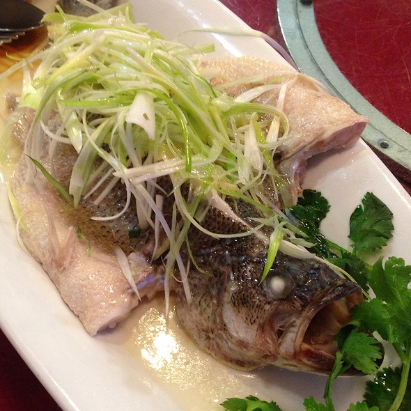 Steamed bass