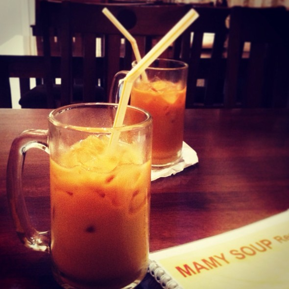 Thai Iced Tea @ Mamy Soup