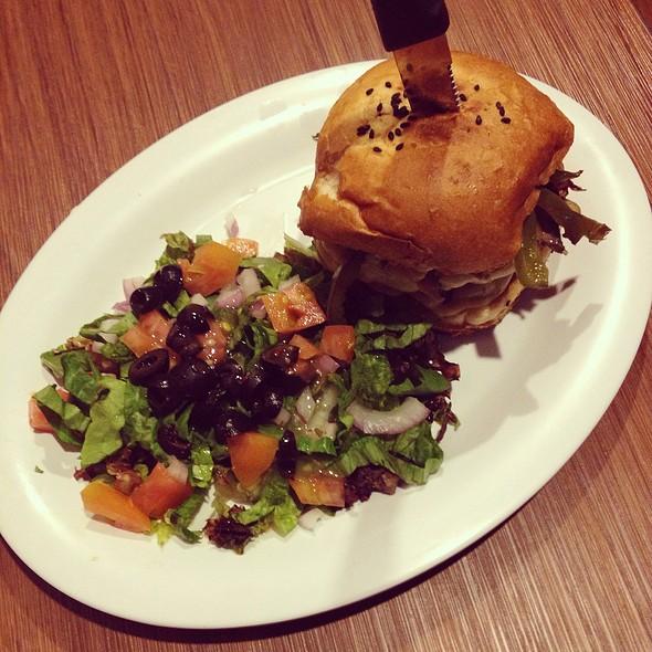 Philly Burger With Side Salad @ El Burger Bar