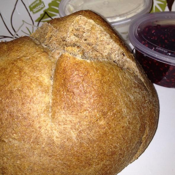 Whole Wheat Scone With Jam And Cream Cheese @ Fika Espresso Bar