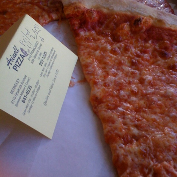Cheese Slice @ Arinell Pizza Inc