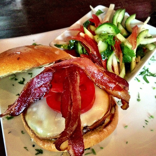 Chef's Choice Burger W/ Smoked Mozzerela - Steingarten LA, Los Angeles, CA