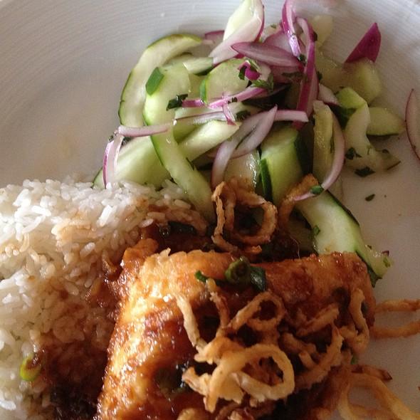 Thai Sea Bass With Cucumber Salad - Bentwood Tavern, New Buffalo, MI