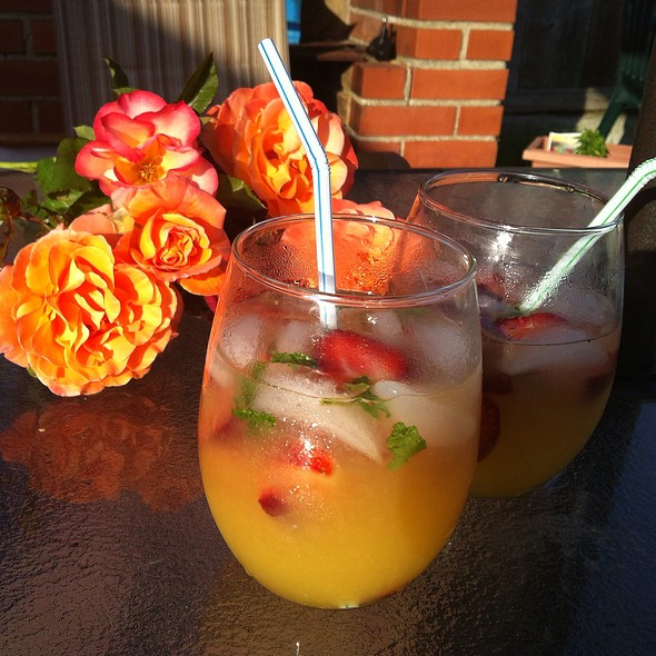 Tequila Citrus Cocktail With Strawberries @ Home