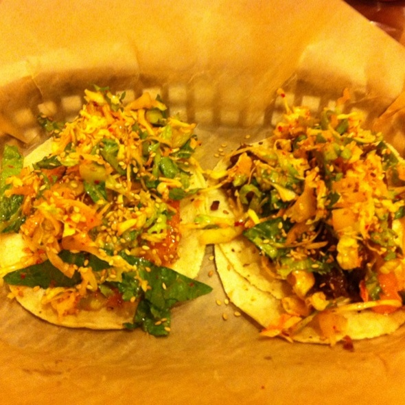 korean short rib taco and shrimp taco @ Del Seoul