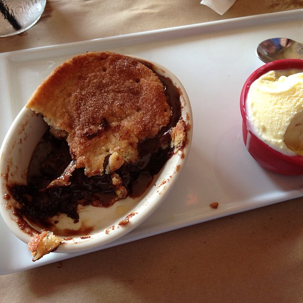 Brownie Pot Pie And Vanilla Ice Cream @ Union Wood Shop