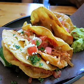 Crispy Chicken Tinga Tacos - Playa Cabana Cantina, Toronto, ON