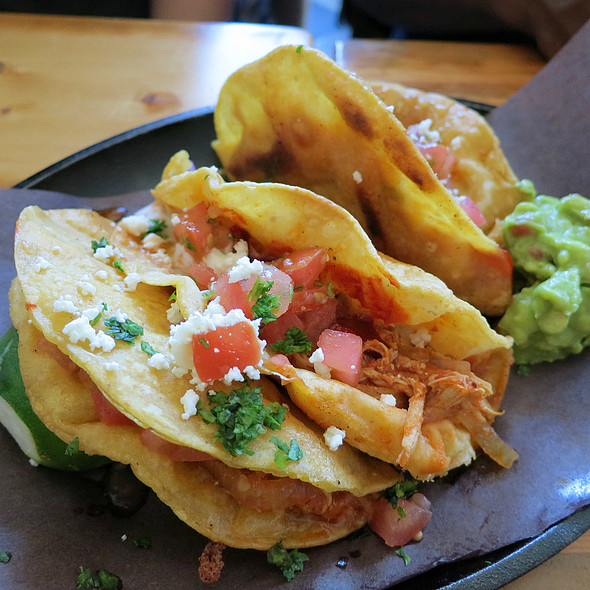 Crispy Chicken Tinga Tacos @ Playa Cabana Cantina