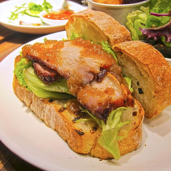 roast pork sandwich with apple sauce @ Plan b. @ Bangsar Shopping Village