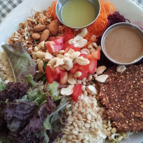 Mixed Raw Food Plate @ Blossom Health Foods