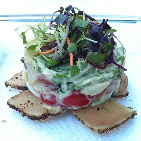 Tuna Carpaccio - Blue Water Cafe, Vancouver, BC