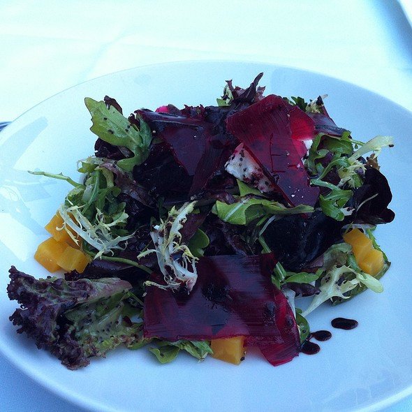 Mixed Green Salad With Beet And Elderberry Gelee - Blue Water Cafe, Vancouver, BC
