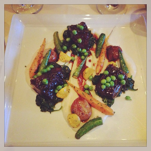 Cabernet Braised Prime Rib Shortribs and New York Strip @ Market Restaurant+Bar