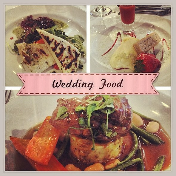 Wedding Breakfast. Grilled Halloumi, Lamb Rump and Deconstructed Cheesecake. Yum! :) @ The Place Apartment Hotel